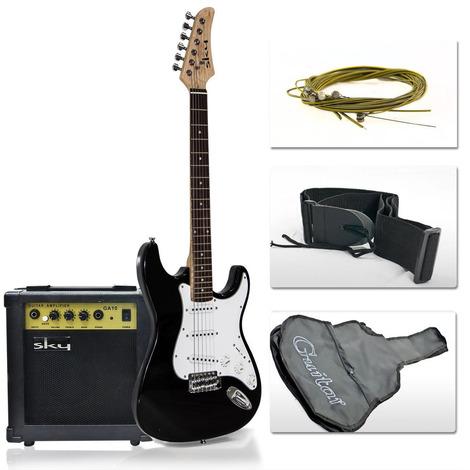 sky enterprise usa black full size electric beginner guitar set review anu kind of view. Black Bedroom Furniture Sets. Home Design Ideas